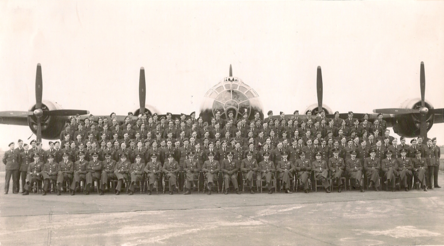149 Squadron in front tof a B.29 (Washington) at Coningsby_Oct 50toMarch 53
