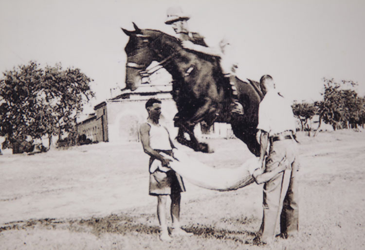 George Reynolds horse Jumping in India