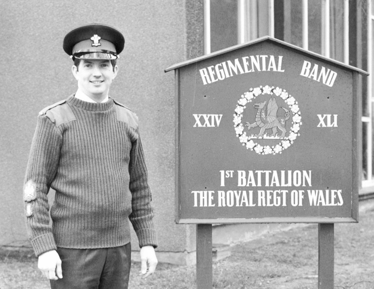 Newly appointed Bandmaster 1985