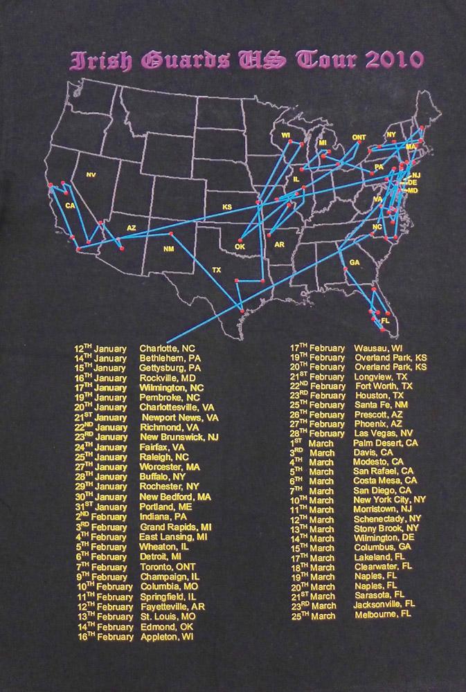 USA Tour dates 2010
