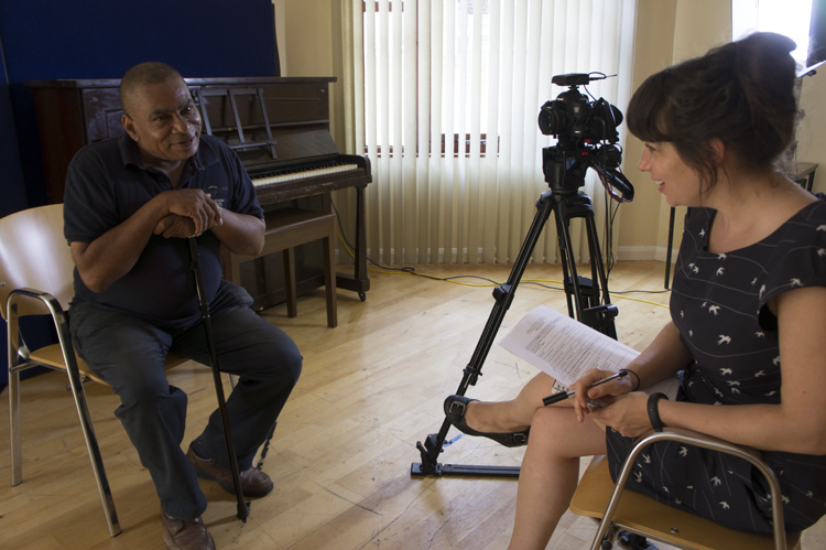 Clarence being interviewed